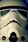 Stormtrooper Framed Prints - Stormtrooper Helmet 106 Framed Print by Micah May
