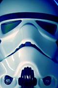 Science Fiction Framed Prints - Stormtrooper Helmet 108 Framed Print by Micah May