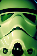 Stormtrooper Framed Prints - Stormtrooper Helmet 109 Framed Print by Micah May