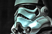 Science Fiction Prints - Stormtrooper Helmet 11 Print by Micah May
