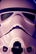 Stormtrooper Framed Prints - Stormtrooper Helmet 110 Framed Print by Micah May