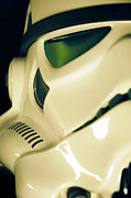 Stormtrooper Prints - Stormtrooper Helmet 111 Print by Micah May
