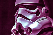 Stormtrooper Prints - Stormtrooper Helmet 20 Print by Micah May