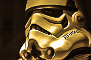 Science Fiction Posters - Stormtrooper Helmet 24 Poster by Micah May