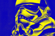 Science Fiction Prints - Stormtrooper Helmet 29 Print by Micah May