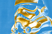 Science Fiction Prints - Stormtrooper Helmet 30 Print by Micah May