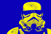 Science Fiction Posters - Stormtrooper Helmet 33 Poster by Micah May
