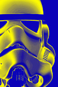 Science Fiction Prints - Stormtrooper Helmet 5 Print by Micah May