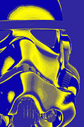 Science Fiction Posters - Stormtrooper Helmet 8 Poster by Micah May
