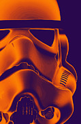Science Fiction Posters - Stormtrooper Helmet 9 Poster by Micah May