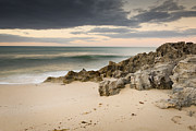 Tim Hester Metal Prints - Stormy Beach Metal Print by Tim Hester
