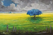 Pasture Scenes Originals - Stormy Clouds by Alicia Maury