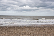 Shingle Beach Prints - Stormy coast Print by Tom Gowanlock