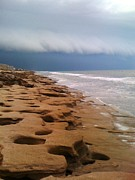 Julie Wilcox Metal Prints - Stormy Coquina Metal Print by Julie Wilcox