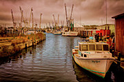 Metal Art Photography Posters - Stormy Day at Englehard - Outer Banks II Poster by Dan Carmichael