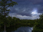 Lightning Photography Photo Originals - Stormy Day at the Lake  by Byron Snider