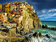Dominic Piperata - Stormy Day in Manarola -...