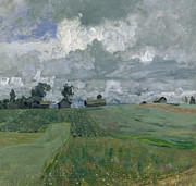 Architecture Paintings - Stormy Day by Isaak Ilyich Levitan