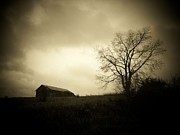 Barn Storm Art - Stormy Day by Michael L Kimble