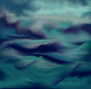 Choppy Digital Art - Stormy Days by Lori  Lovetere