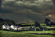 Dry Stone Wall Posters - Stormy Hamlet Poster by Christopher and Amanda Elwell