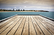 Tim Hester Prints - Stormy Jetty Print by Tim Hester