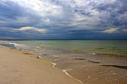 Mayflower Beach Prints - Stormy Mayflower Beach Print by Amazing Jules