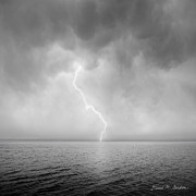 Lightning Bolt Prints - Stormy Night  Print by Dave Gordon