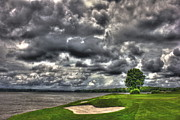 Golf Holes Framed Prints - Stormy Number 4 Framed Print by Reid Callaway