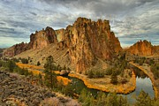 Oregon State Art - Stormy Over Smith Rock by Adam Jewell