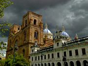 Domes Prints - Stormy Religion Print by Al Bourassa