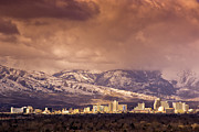 Stormy Reno Sunrise Print by Janis Knight