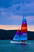 Otsego Lake Posters - Stormy Sail Poster by Bill Miller