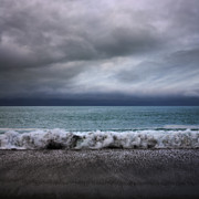 Stormy Art - Stormy Sea and Sky Square by Colin and Linda McKie