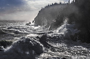 Bay Of Fundy Prints - Stormy Seas at Gullivers Hole Print by Marty Saccone