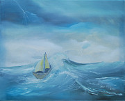 Storms Painting Originals - Stormy Seas by Dawn Nickel