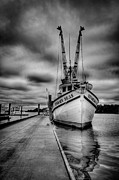 Boat Photo Prints - Stormy Seas Print by Matthew Trudeau