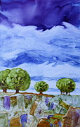 Nancy Jolley Art - Stormy Skies by Nancy Jolley
