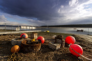 Stormy Skies Over Findhorn Bay Print by Karl Normington