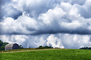 Barn Digital Art - Stormy Sky and Barn by Thomas R Fletcher