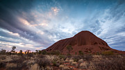Australian Bush Prints - Stormy sky over Uluru Print by Matteo Colombo