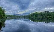 Stormy Sunrise Over Price Lake - Blue Ridge Parkway I Print by Dan Carmichael