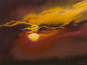 Kenya Pastels - Stormy Sunset over Kenya by Brenda Salamone