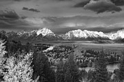 Outlook Posters - Stormy Tetons Poster by Jennifer Grover