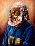 Jamaican Art Paintings - Story Teller by Ewan  McAnuff