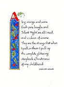 Storybook Mixed Media Prints - Storybook Christmas Print by Jan Boyd