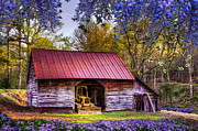 Old Barns Prints - Storybook Farms Print by Debra and Dave Vanderlaan