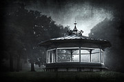Silhouette Digital Art - Storytelling Gazebo by Svetlana Sewell
