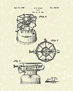 Single Drawings - Stove 1940 Patent Art by Prior Art Design