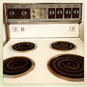 Appliance Posters - Stove top Poster by Les Cunliffe
